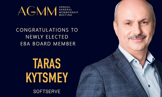 European Business Association Elects SoftServe Co-Founder Taras Kytsmey to Board of Directors